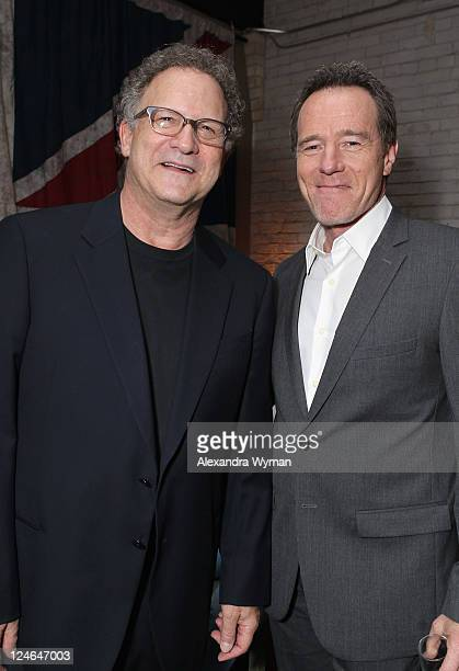 Actors Albert Brooks and Bryan Cranston attend the Drive party hosted by GREY GOOSE Vodka at Soho House Pop Up Club during the 2011 Toronto...