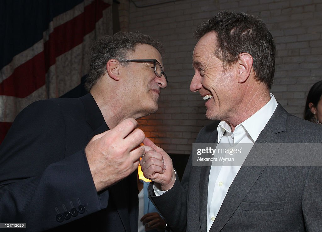 Actors Albert Brooks and Bryan Cranston attend the 'Drive' party hosted by GREY GOOSE Vodka at Soho House Pop Up Club during the 2011 Toronto International Film Festival on September 10, 2011 in Toronto, Canada.