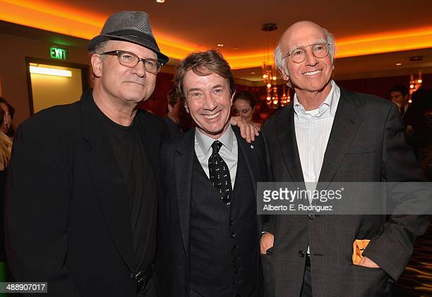 Actors Albert Brooks Martin Short and comedian Larry David attend the after party for the premiere of Atlas Films' 'Fed Up' at The Pacific Design...