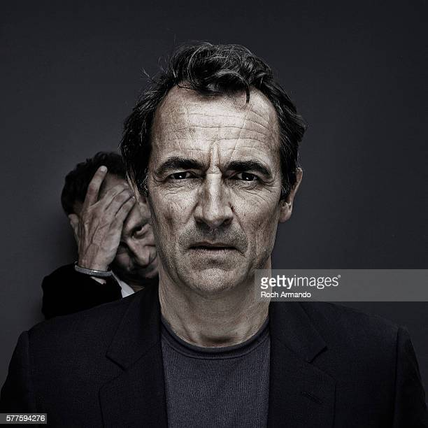 Actors Albert Dupontel and Benoit Poelvoorde are photographed for Self Assignment on May 21 2012 in Cannes France
