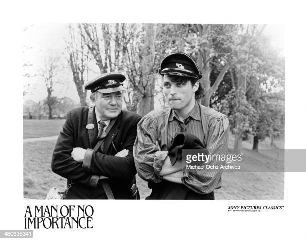 Actors Albert Finney and Rufus Sewell in a scene from the movie A Man of No Importance circa 1994