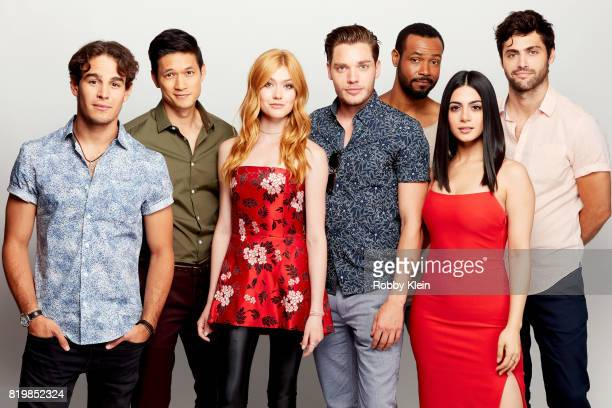 Actors Alberto Rosende Harry Shum Jr Katherine McNamara Dominic Sherwood Isaiah Mustafa Emeraude Toubia and Matthew Daddario from Freeform's...