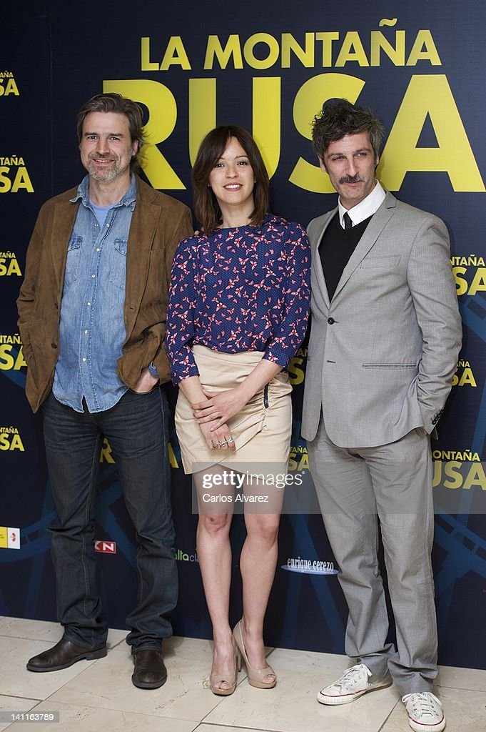 Actors Alberto San Juan, Veronica Sanchez and Ernesto Alterio attend 'La Montana Rusa' photocall at Princesa cinema> on March 12, 2012 in Madrid, Spain.