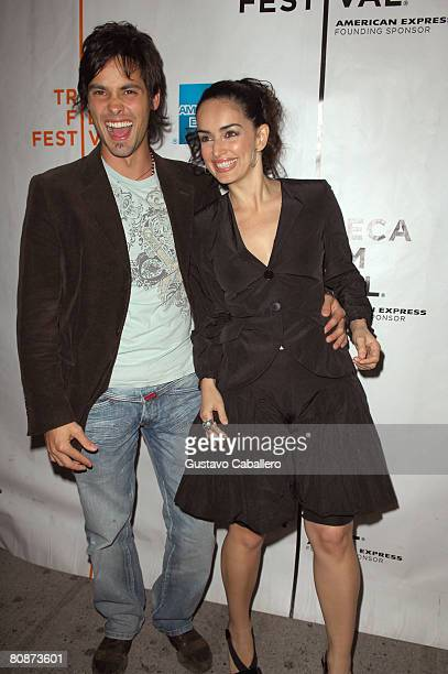 Actors Aldemar Correa and Ana de La Reguera attend the premiere of Paraiso Travel during the 2008 Tribeca Film Festival on April 26 2008 in New York...