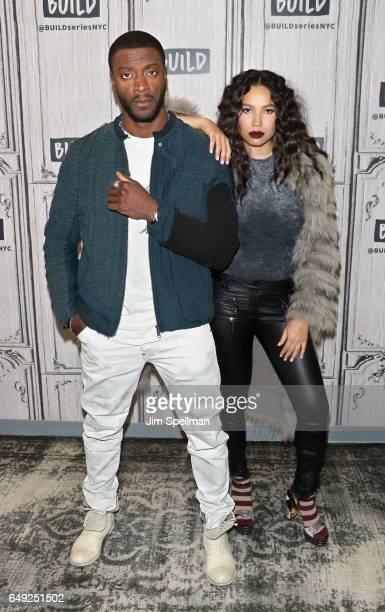 Actors Aldis Hodge and Jurnee SmollettBell attend the Build series to discuss 'Underground' at Build Studio on March 7 2017 in New York City