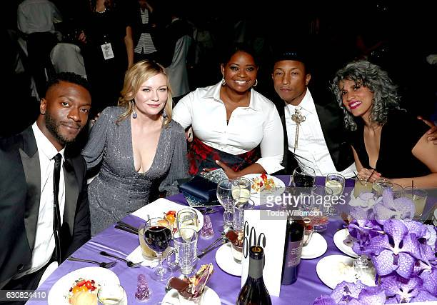 Actors Aldis Hodge Kirsten Dunst Octavia Spencer producers Pharrell Williams and Mimi Valdes attend the 28th Annual Palm Springs International Film...