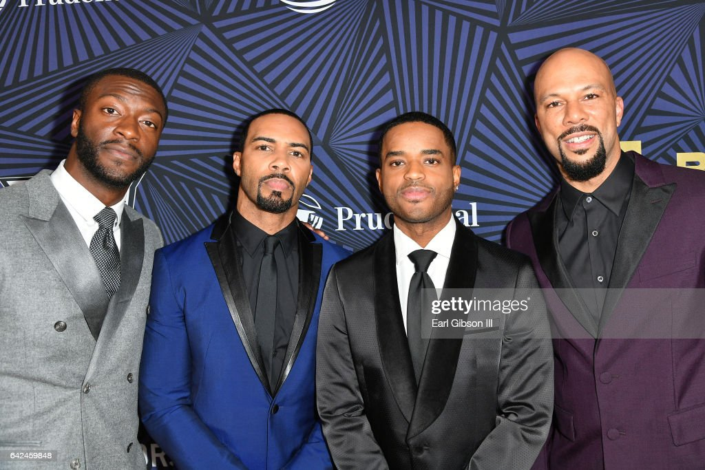 Actors Aldis Hodge, Omari Hardwick, Larenz Tate and Common attend BET Presents the American Black Film Festival Honors on February 17, 2017 in Beverly Hills, California.