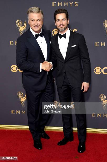 Actors Alec Baldwin and Matt Bomer attend the 69th Annual Primetime Emmy Awards at Microsoft Theater on September 17 2017 in Los Angeles California