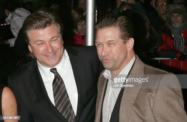 Actors Alec Baldwin and Stephen Baldwin attend the New York premiere of It's Complicated at The Paris Theatre on December 9 2009 in New York City