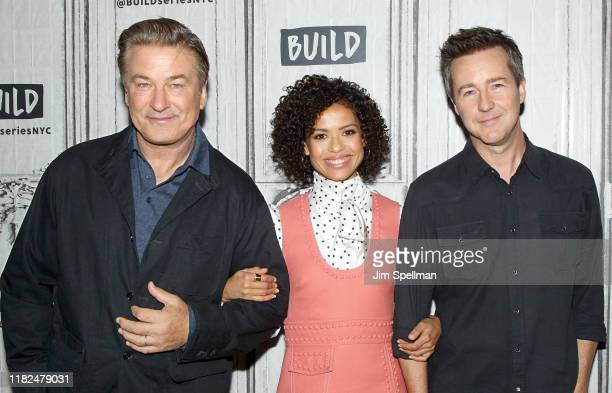 Actors Alec Baldwin Gugu MbathaRaw and director/actor Edward Norton attend the Build Series to discuss Motherless Brooklyn at Build Studio on October...