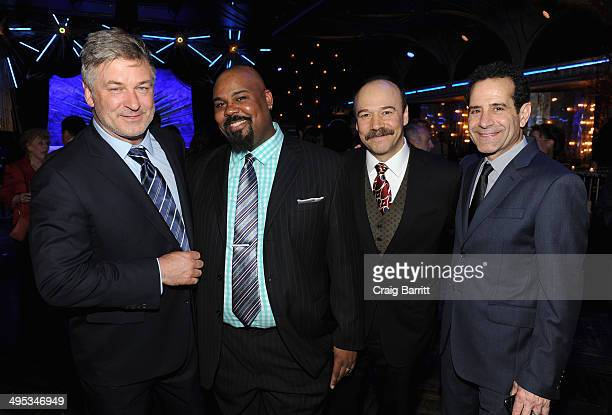 Actors Alec Baldwin James Monroe Iglehart Danny Burstein and Tony Shalhoub attend the 2014 Tony Honors Cocktail Party at the Paramount Hotel on June...