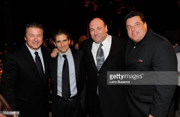 Actors Alec Baldwin Michael Imperioli James Gandolfini and Steve Schirripa attend the Exploring the Arts Gala at Cipriani Wall Street on September 27...