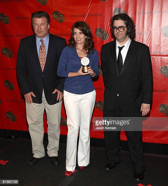 Actors Alec Baldwin, Tina Fey and Judah Friedlander attend the 67th Annual Peabody Awards at the Waldorf Astoria June 16, 2008 in New York City.