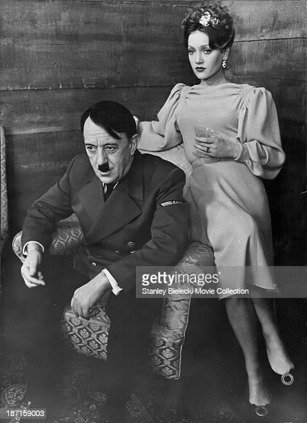 Actors Alec Guinness and Doris Kunstmann in scene from the film 'Hitler The Last Ten Days' 1973