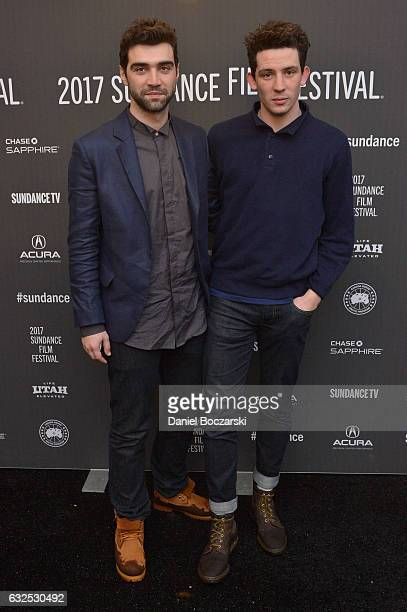 Actors Alec Secareanu and Josh O'Connor attend the 'God's Own Country' Premiere at The Marc Theatre on January 23 2017 in Park City Utah