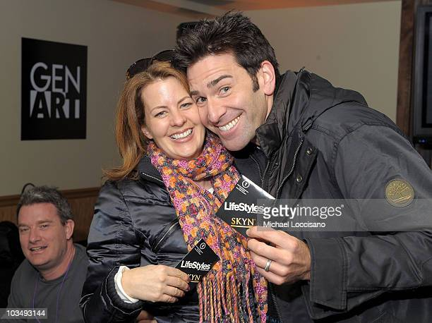 Actors Alecia Hurst and Matt Walton attend the GenArt Lounge Day 2 at The Sky Lodge on January 23 2010 in Park City Utah