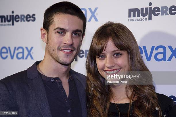 Actors Alejo Sauras and Michelle Jenner attends the Women Against Domestic Violence photocall at La Riviera discoteque on October 22 2009 in Madrid...