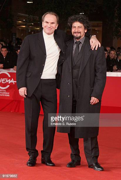Actors Aleksei Guskov and Radu Mihaileanu attend 'The Concert' Premiere during day 4 of the 4th Rome International Film Festival held at the...
