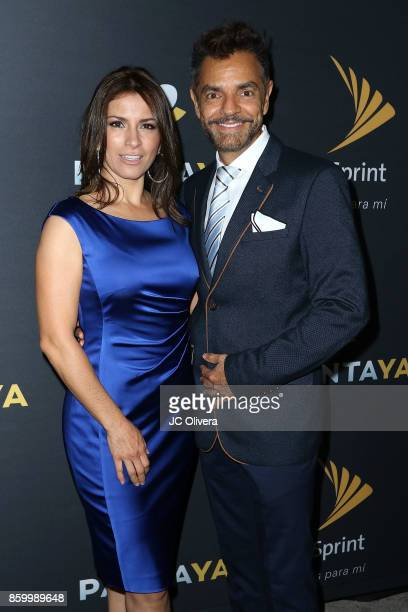 Actors Alessandra Rosaldo and Eugenio Derbez attend PANTAYA Launch Party at Boulevard3 on October 10 2017 in Hollywood California
