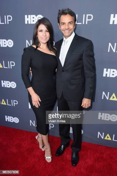 Actors Alessandra Rosaldo and Eugenio Derbez attend the NALIP 2018 Latino Media Awards at The Ray Dolby Ballroom at Hollywood Highland Center on June...