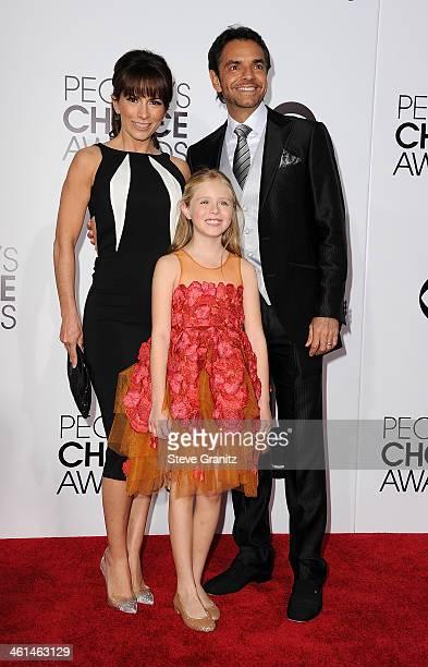Actors Alessandra Rosaldo Loreto Peralta and Eugenio Derbez attend The 40th Annual People's Choice Awards at Nokia Theatre LA Live on January 8 2014...