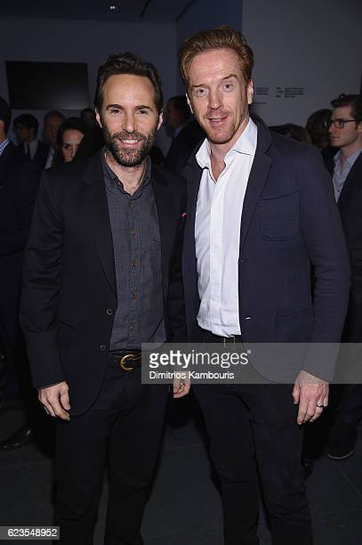 Actors Alessandro Nivola and Damian Lewis attend the MoMA Film Benefit presented by CHANEL A Tribute To Tom Hanks at MOMA on November 15 2016 in New...