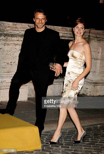 Actors Alessandro Preziosi and Vittoria Puccini attend the BULGARI 'Between Eternity And History' Dinner Red Carpet at Castel Sant'Angelo on May 20...