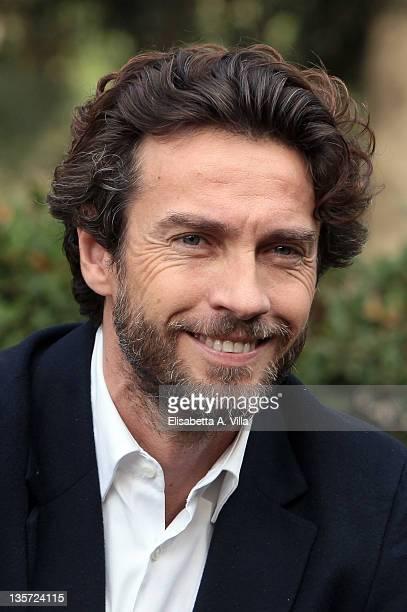 Actors Alessio Boni attends 'I Cerchi Nell'Acqua' Mediaset TV series photocall at Casa del Cinema on December 13 2011 in Rome Italy