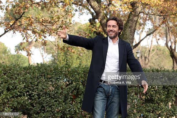 Actors Alessio Boni attends 'I Cerchi Nell'Acqua' TV series Mediaset photocall at Casa del Cinema on December 13 2011 in Rome Italy