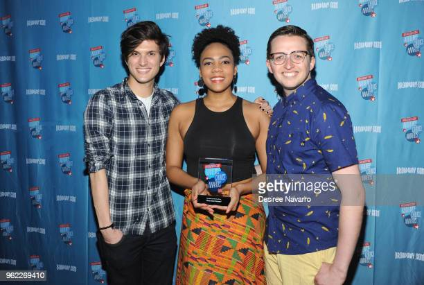 Actors Alex Boniello Phoenix Best and Will Roland attend Broadwaycom Audience Choice Awards at 48 Lounge on May 24 2018 in New York City