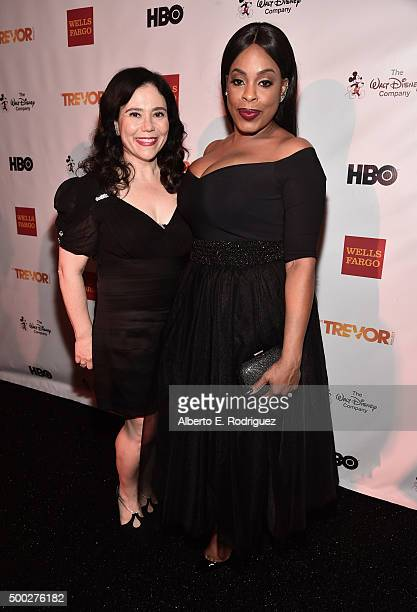 Actors Alex Borstein and Niecy Nash attend TrevorLIVE LA 2015 at Hollywood Palladium on December 6 2015 in Los Angeles California