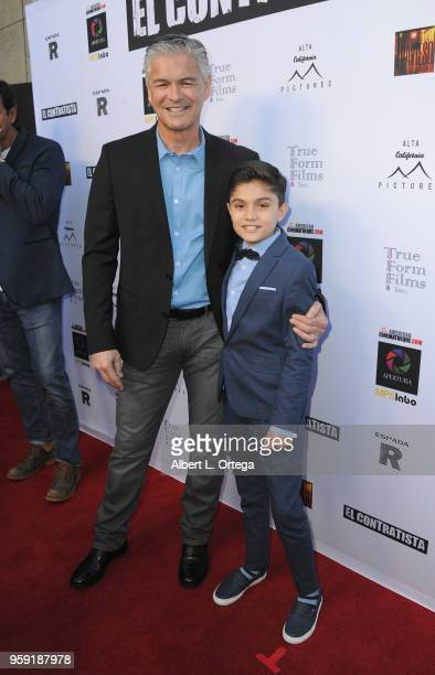 Actors Alex de Hoyos and Sebastian Cano arrive for the American Cinematheque And Apertura Showcase Present Screening Of 'El Contratista' held at The...