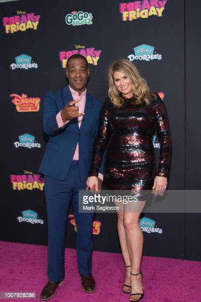 Actors Alex Desert and Heidi Blickenstaff attend the 'Freaky Friday' New York Premiere at The Beacon Theatre on July 30 2018 in New York City