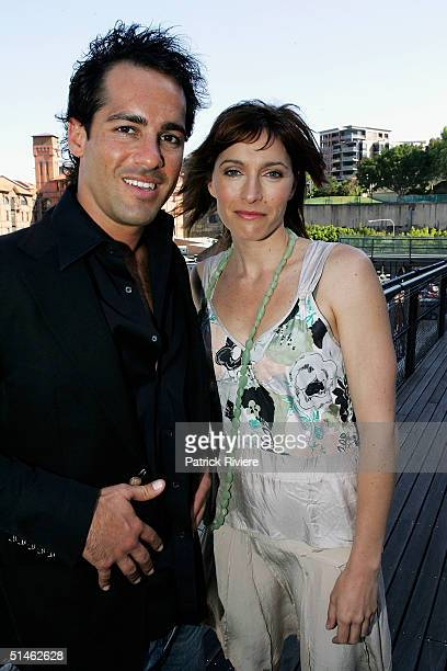 Actors Alex Dimitriades and Claudia Karvan attend the Lexus IF Awards Nomination Launch at Doltone House October 11 2004 in Sydney Australia