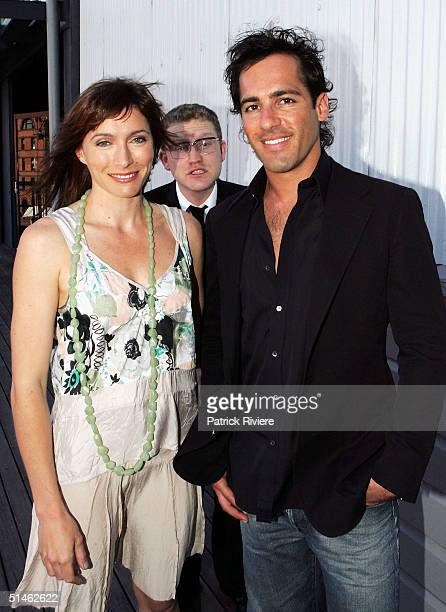 Actors Alex Dimitriades John Safran and Claudia Karvan attend the Lexus IF Awards Nomination Launch at Doltone House October 11 2004 in Sydney...