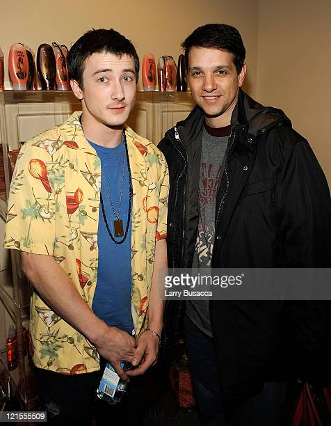 Actors Alex Frost and Ralph Macchio visit the Hollywood Life House Suite on January 19 2009 in Park City Utah