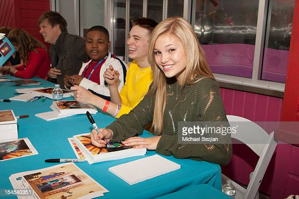 Actors Alex Jones Dylan Riley Snyder and Olivia Holt attend Mattel Party On The Pier Benefiting Mattel Children's Hospital UCLA Inside at Pacific...