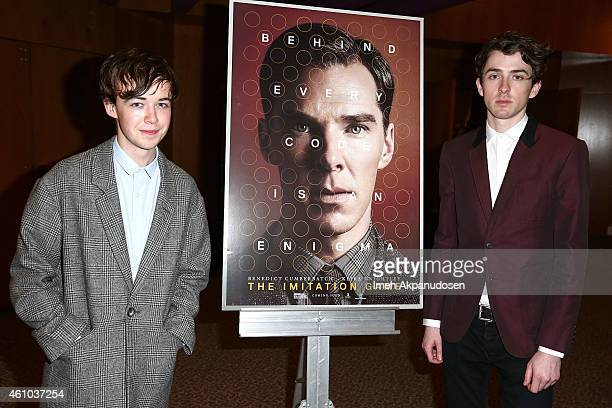 Actors Alex Lawther and Matthew Beard attend a QA following the screening of 'The Imitation Game' at DGA Theater on January 4 2015 in Los Angeles...
