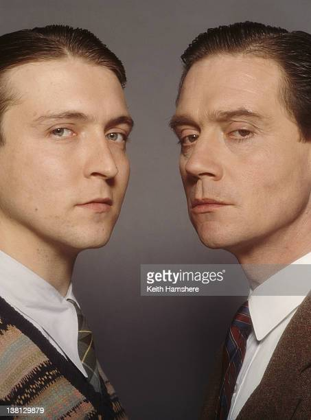 Actors Alex Lowe and Anthony Andrews in a publicity still for the film 'Haunted' 1995