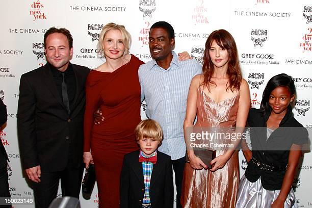 Actors Alex Nahon Julie Delpy Owen Shipman Chris Rock Alexia Landeau and Talen Riley attend The Cinema Society with MCM Greee Goose screening of...