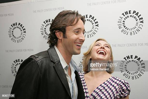 Actors Alex O'Loughlin and Sophia Myles attend Moonlight And Vampires Never Out of Date held at the Paley Center for Media on April 22 2008 in...