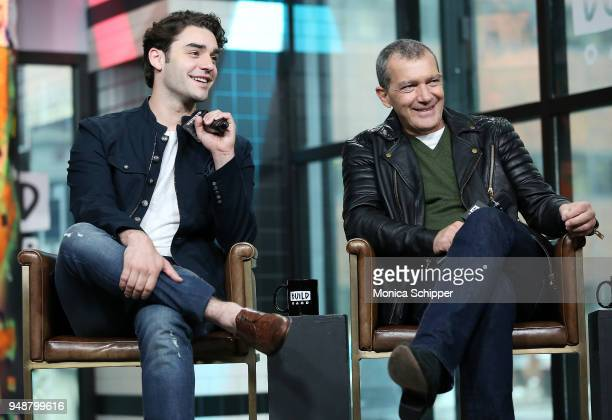 Actors Alex Rich and Antonio Banderas visit Build Studio to discuss National Geographic's anthology 'Genius Picasso' on April 19 2018 in New York City