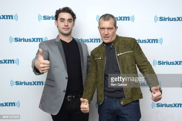 Actors Alex Rich and Antonio Banderas visit SiriusXM Studios to promote their new show 'Picasso' on April 20 2018 in New York City