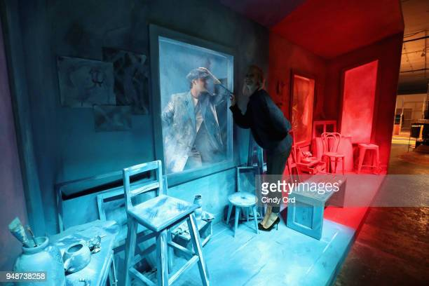 Actors Alex Rich and Poppy Delevingne attend the 'Genius Picasso' interactive experience at the Genius Studio an interactive installation designed to...