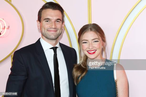 Actors Alex Russell and Diana Hopper attend the Amazon Prime Video post 2018 Emmy Awards party at Cecconi's on September 17 2018 in West Hollywood...