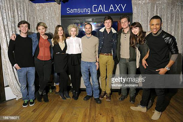 Actors Alex Shaffer Amy Seimetz Lindsay Burdge Julia Garner Verge founder and creative director Jeff Vespa actor Nick Robinson Jonathan Groff Gina...