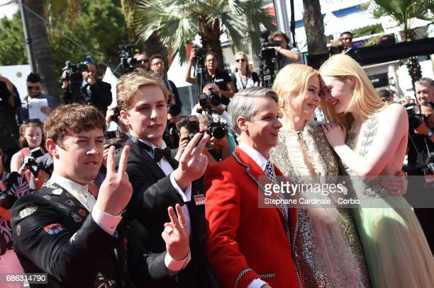 Actors Alex Sharp Abraham Lewis director John Cameron Mitchell Nicole Kidman and Elle Fanning attend the 'How To Talk To Girls At Parties' screening...