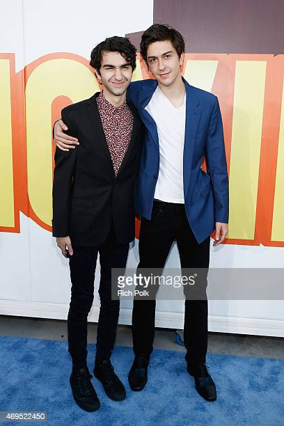 Actors Alex Wolff and Nat Wolff attend The 2015 MTV Movie Awards at Nokia Theatre LA Live on April 12 2015 in Los Angeles California