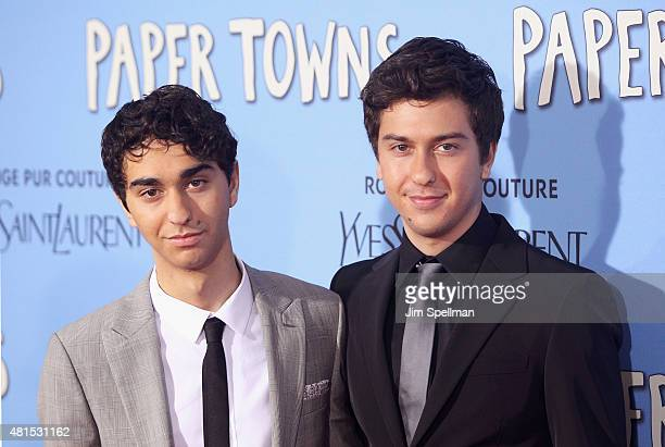 Actors Alex Wolff and Nat Wolff attend the Paper Towns New York premiere at AMC Loews Lincoln Square on July 21 2015 in New York City
