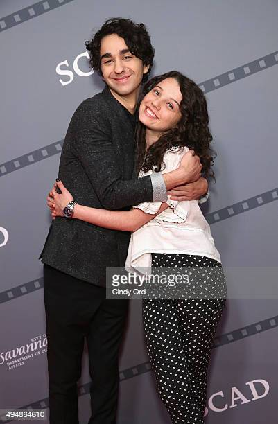 Actors Alex Wolff and Stefania LaVie Owen pose for a photo together prior to QA for Coming Through the Rye at Lucas Theatre during Day Six of 18th...